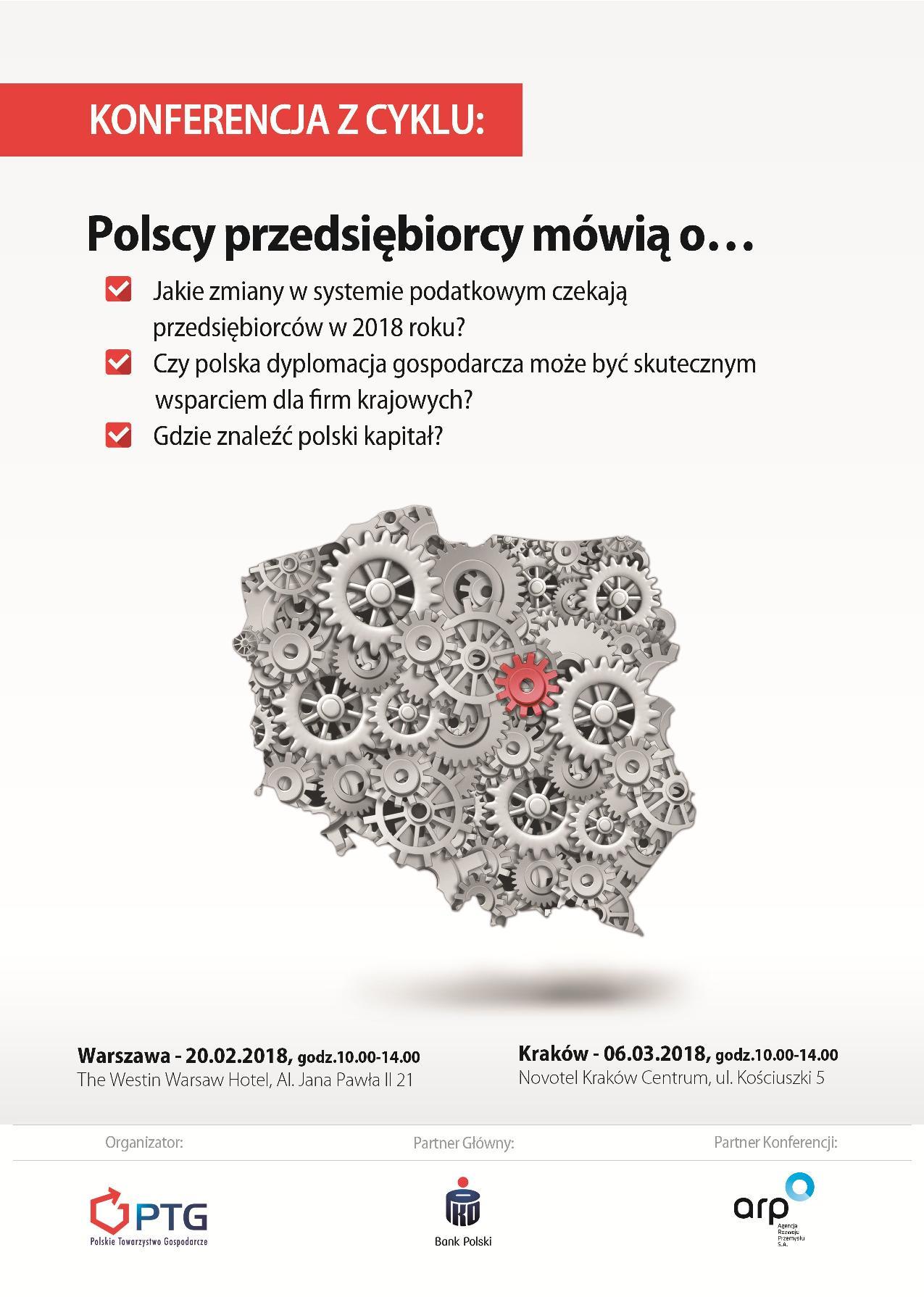 Zaproszenie na konferencje PTG Polscy przedsiębiorcy mówią o...