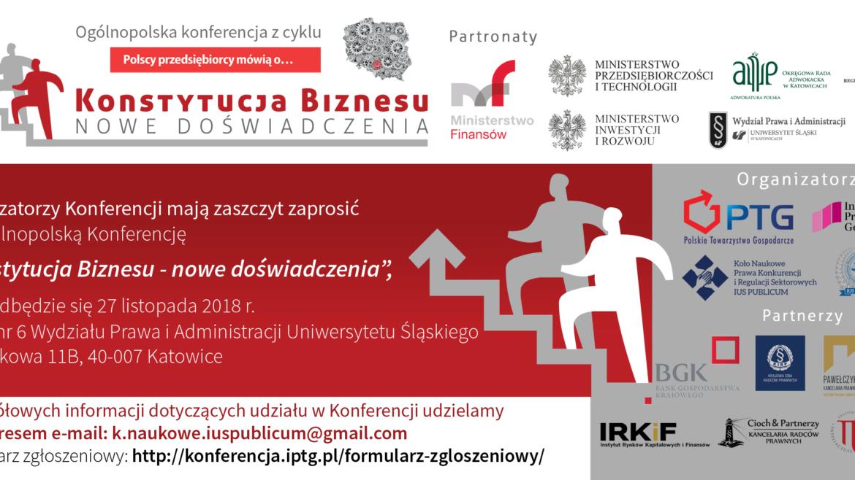 Konferencja PTG w Katowicach: Konstytucja Biznesu. Nowe doświadczenia.