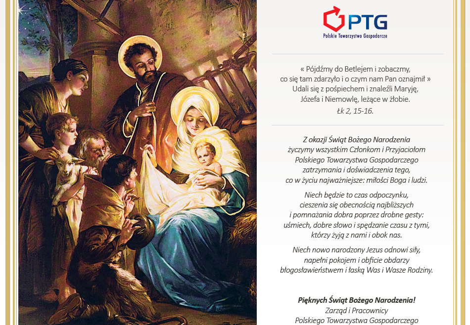 PTG życzy pięknych Świąt Bożego Narodzenia!